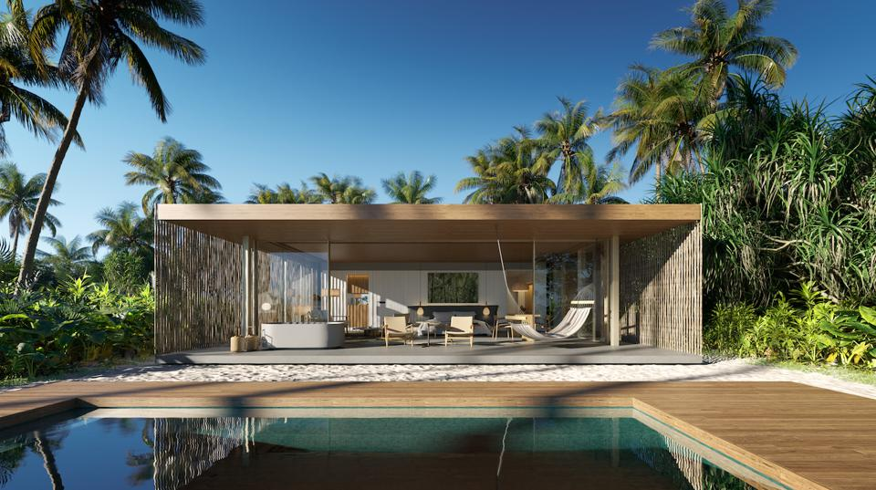 A one-bedroom Beach Pool Villa at Patina Maldives, Fari Islands.