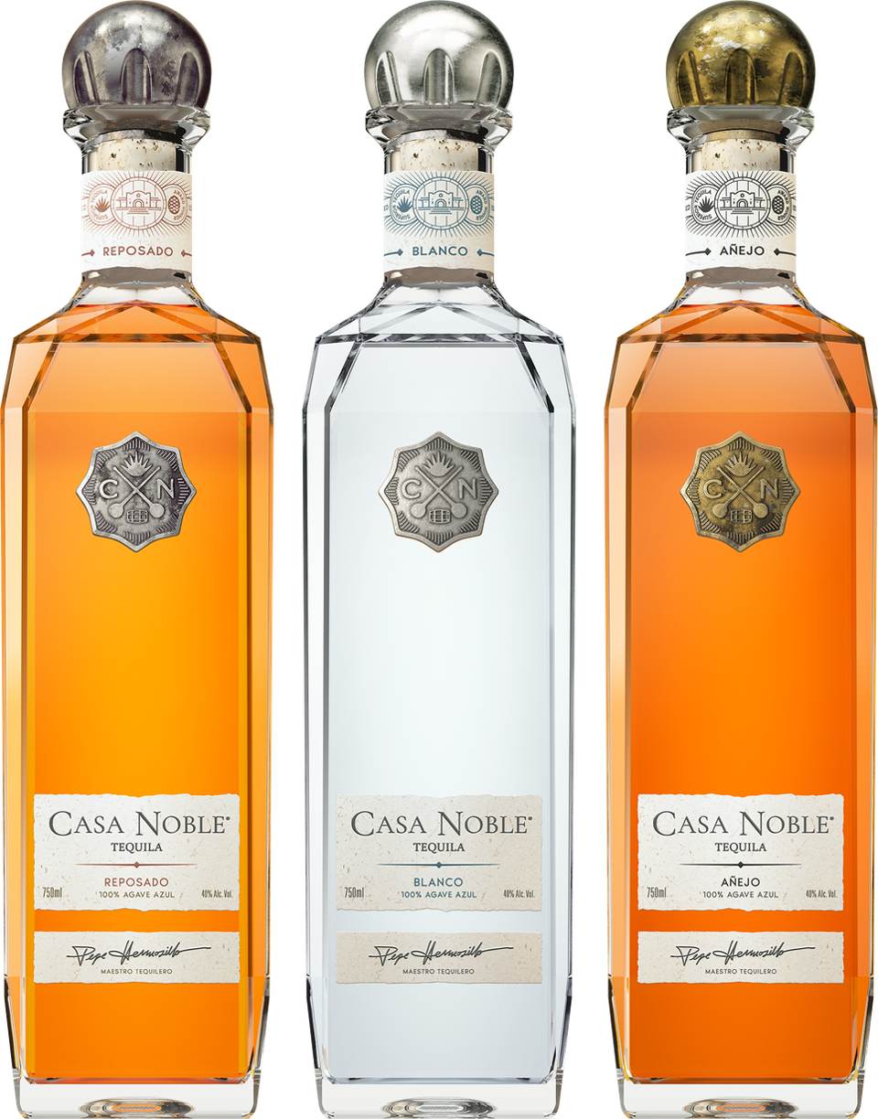 three bottles of casa noble