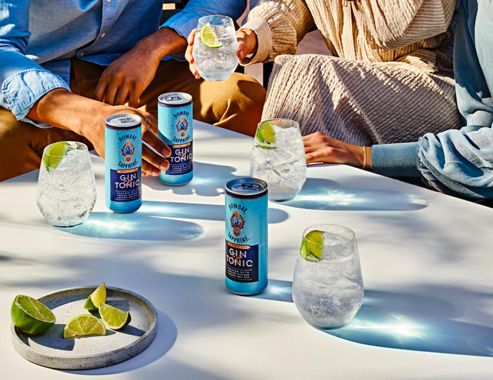 Bombay Sapphire launched ready-to-drink gin & tonic this spring