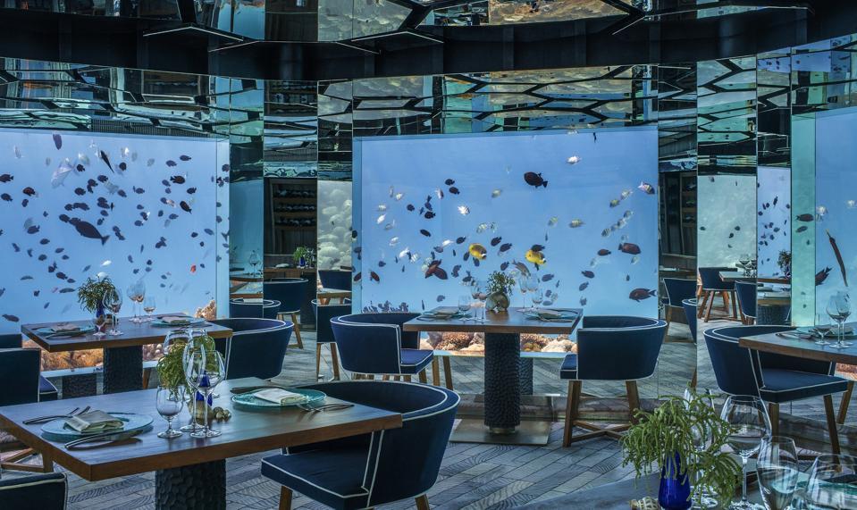 Anantara Kihavah Villas underwater SEA restaurant