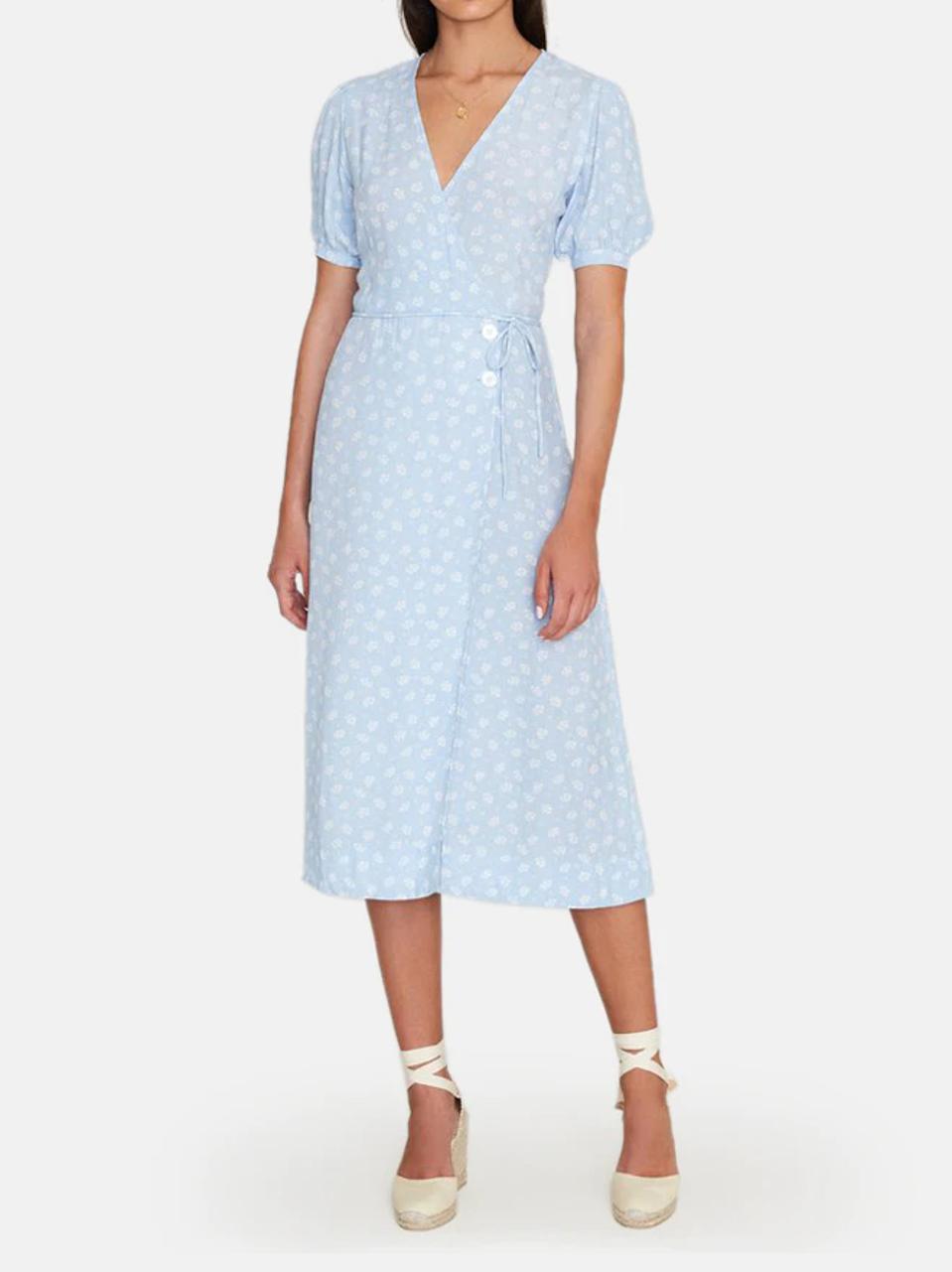 Best deals: Faithfull the Brand Carmine Puff-Sleeve Midi Dress