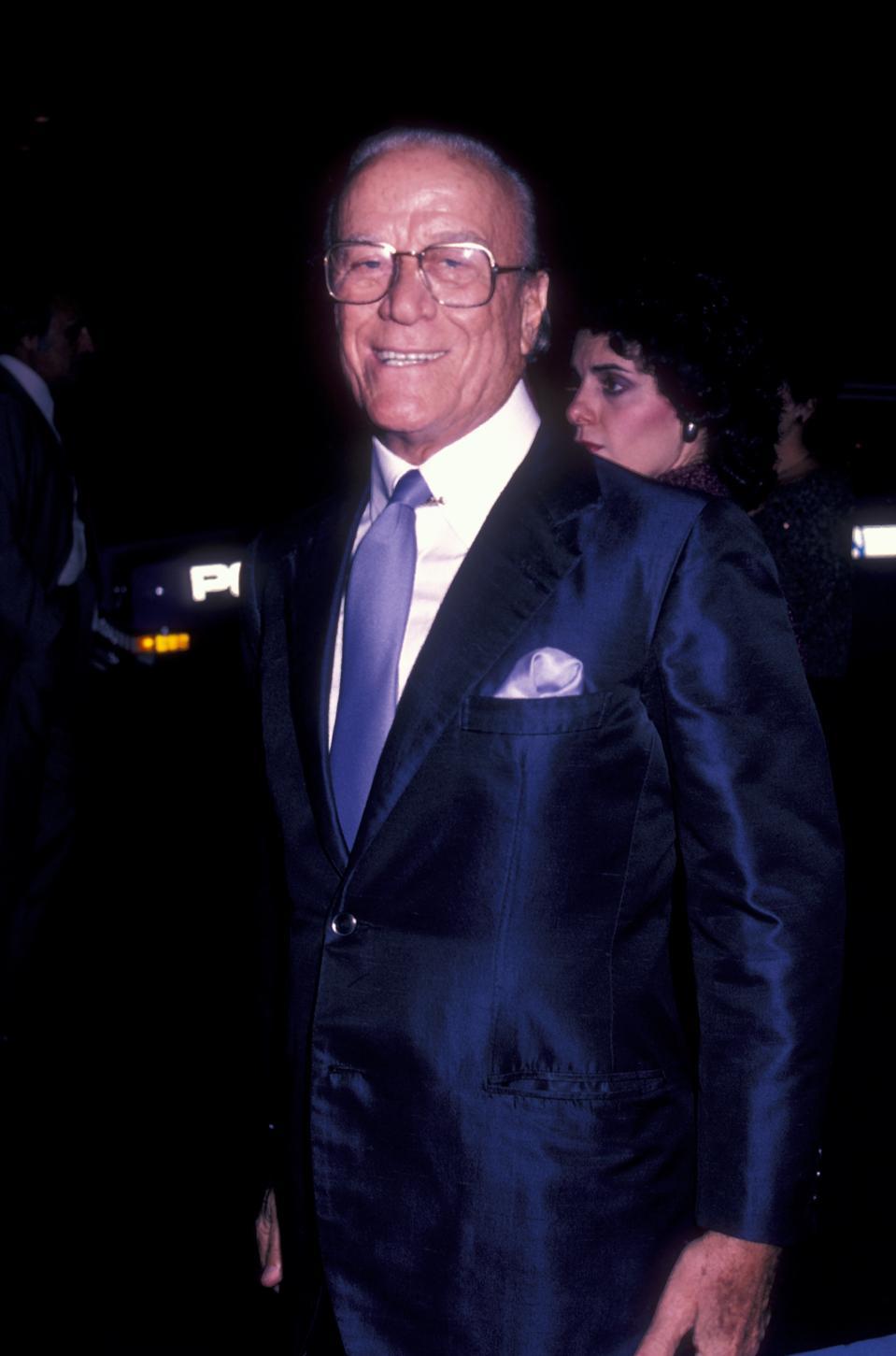 Aldo Gucci at Premiere of ″Yes, Giorgio″ 1982