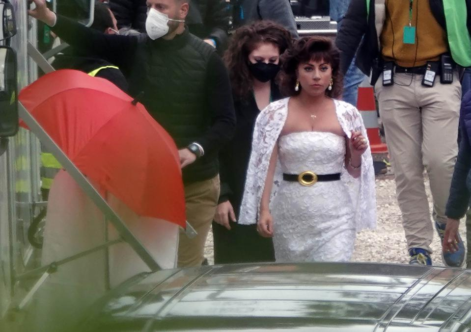 Lady Gaga during the filming of  ″House of Gucci″  - April 7, 2021