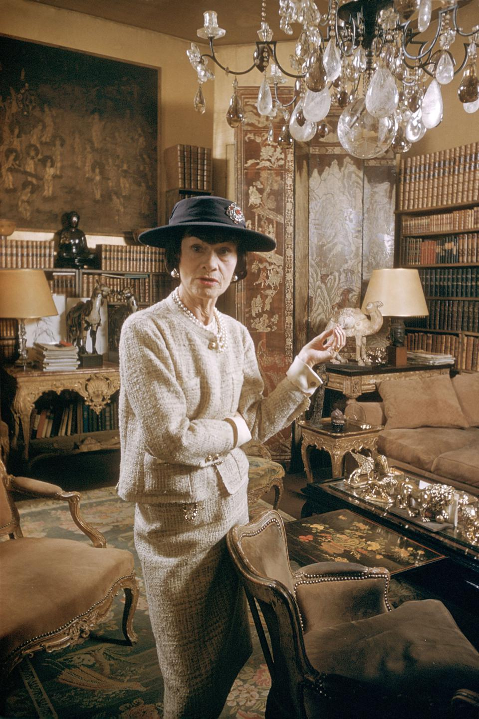 Coco Chanel In Paris, France In 1959