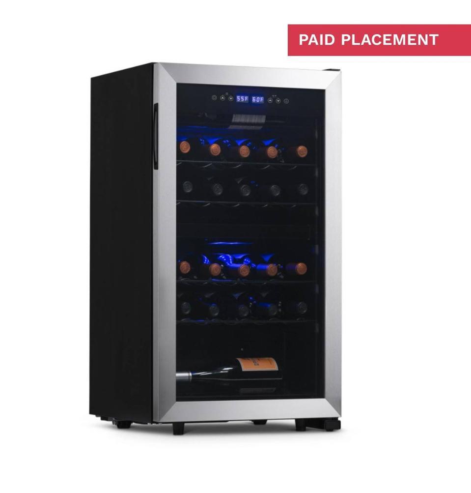 Newair stainless steel wine fridge