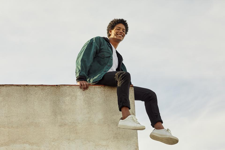 Portrait of smiling carefree man at rooftop