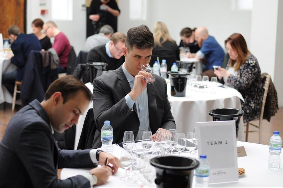 A judging session at the 2021 London Spirits Competition