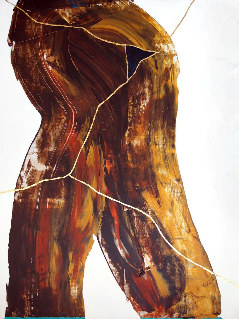 painting in brown
