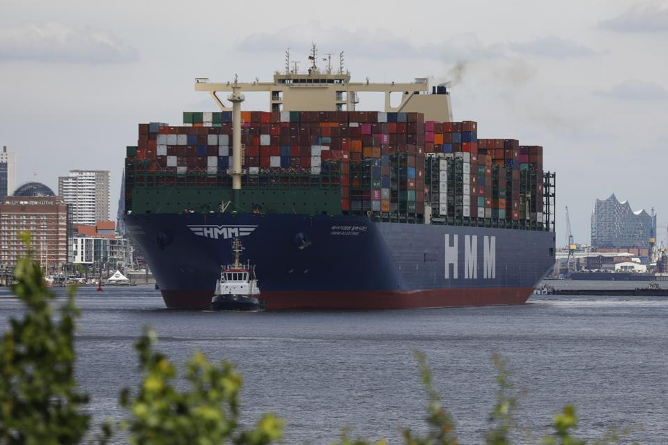 HMM Algeciras is the world's largest container ship.