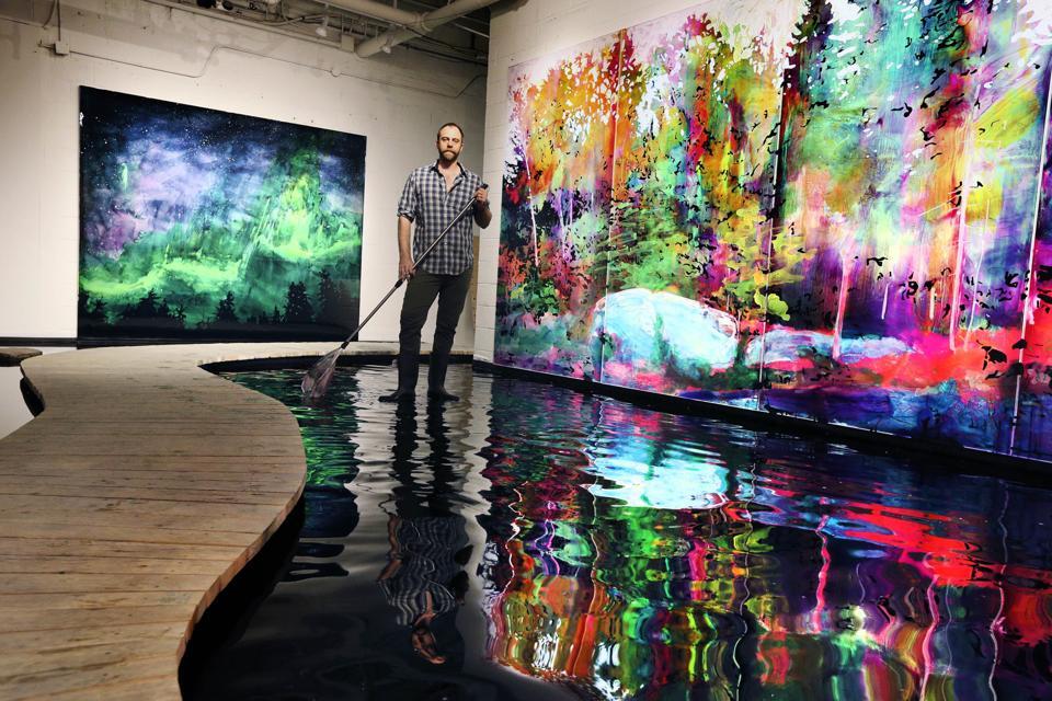 Studio portrait with painter Steve Driscoll