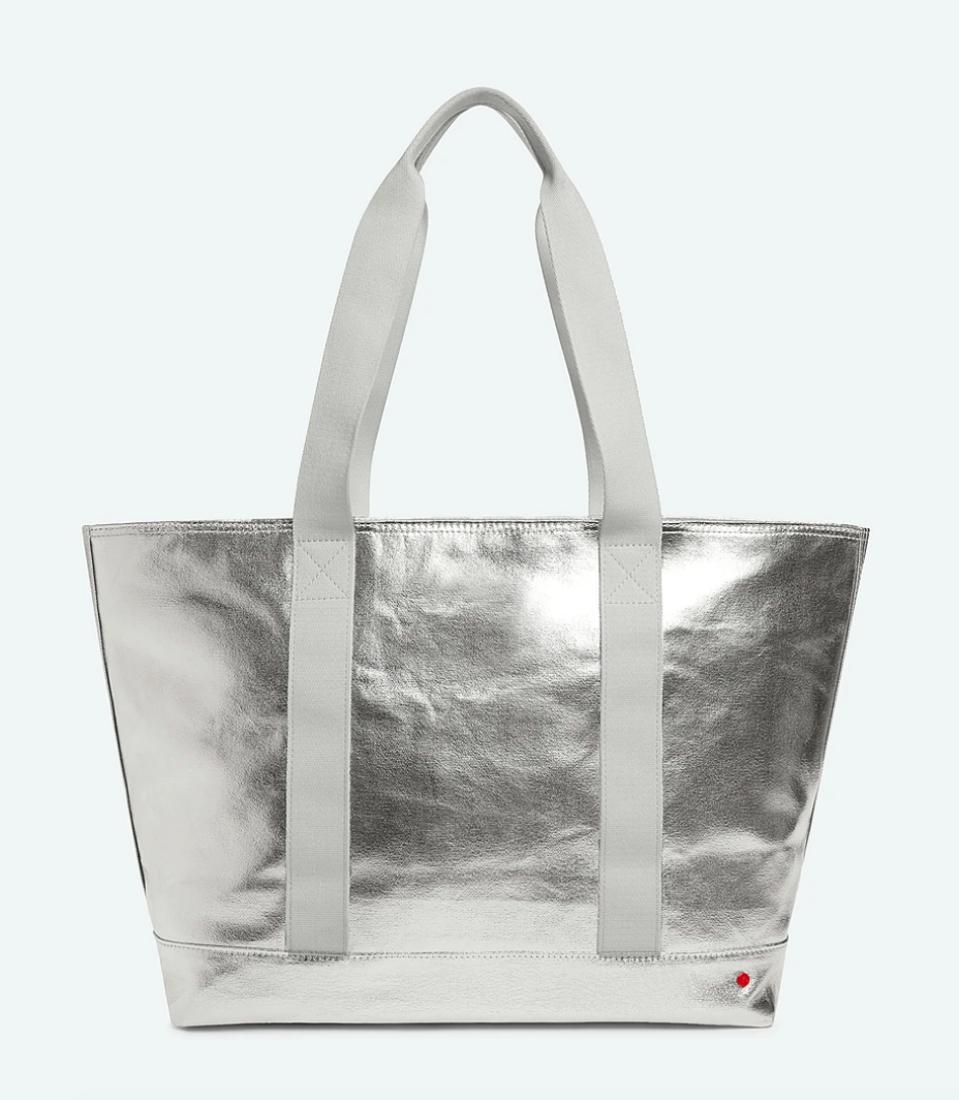 vegan silver bag