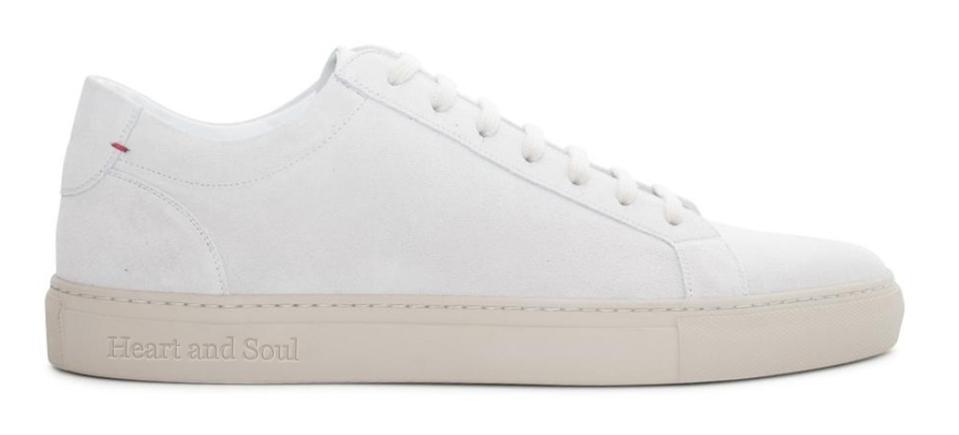 Del Toro Women's Off White Suede Sardegna Sneaker II