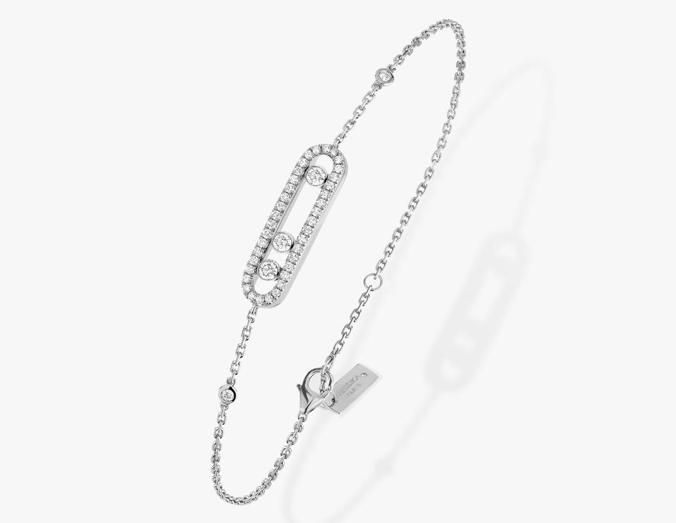 Baby Move white gold diamond bracelet, 0,30 carat