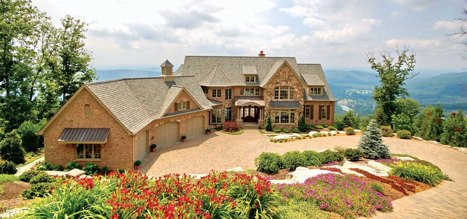 Home on a bluff in The Cliffs.