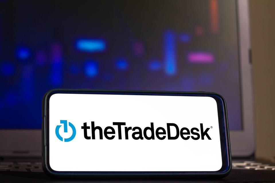In this photo illustration a Trade Desk logo seen displayed...