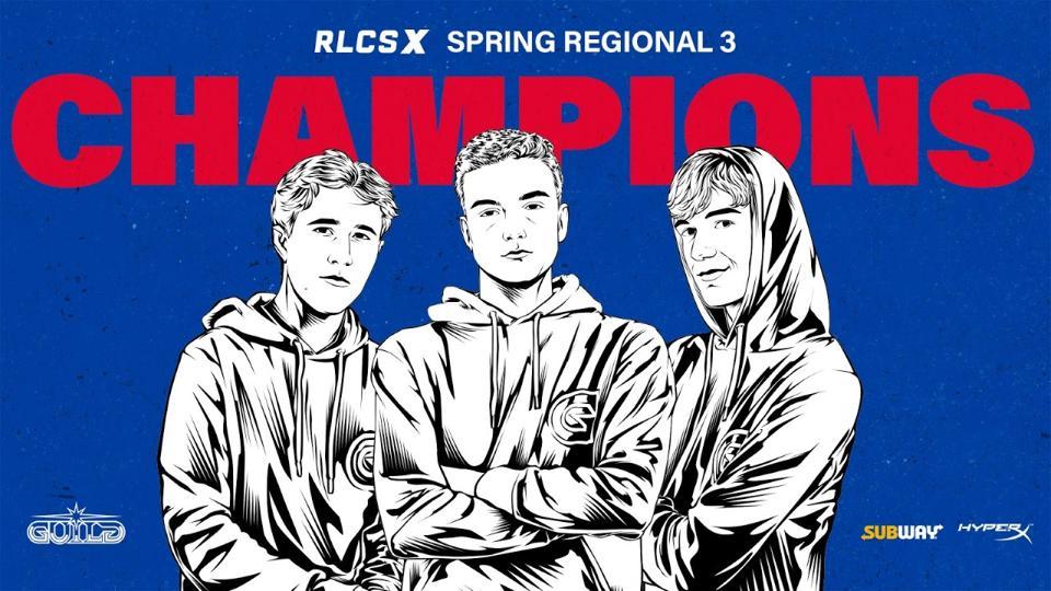 Guild Esports RLCSX Spring Regional champions