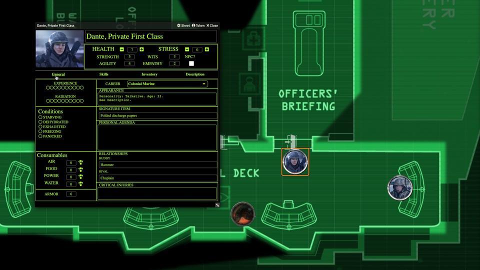 Foundry VTT Alien RPG