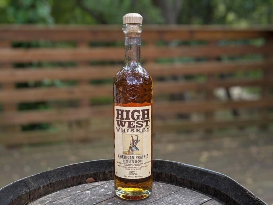Bottle of High West Whiskey American Prairie Bourbon