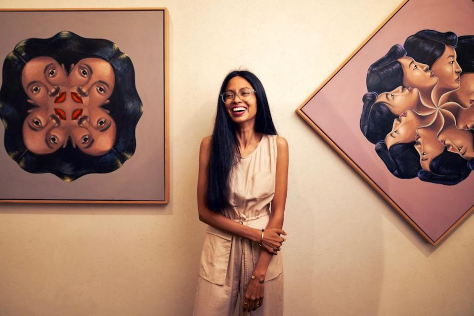 Shyama Golden is Hotel Figueroa's guest artist, with her pieces on display there now through the end of this year.