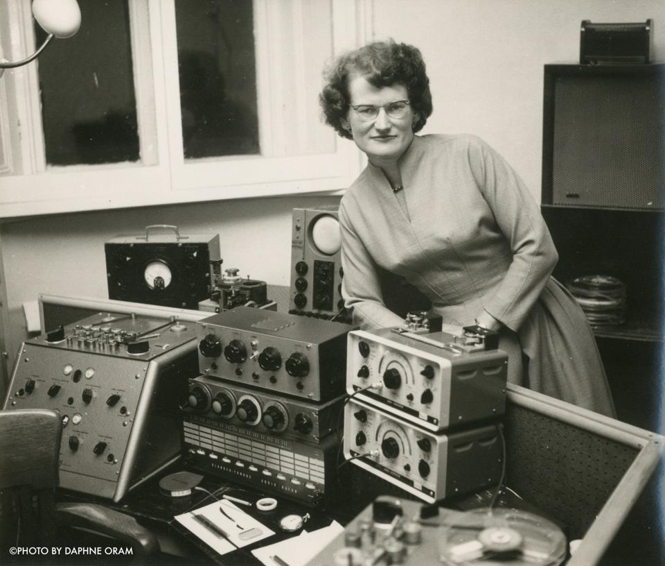woman with sound equipment