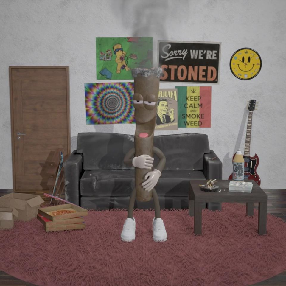 Barry Backwood, a digital NFT blunt character by This Is Addictive that you can purchase on Nifty Gateway beginning on 4/20/2021.