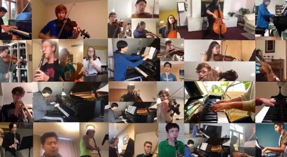 In February 2021, student musicians  in Iowa City, Iowa performed works by Bach, Dvorak and others every day for a week in a series of Zoom concerts organized by University of Iowa UNICEF Club members.