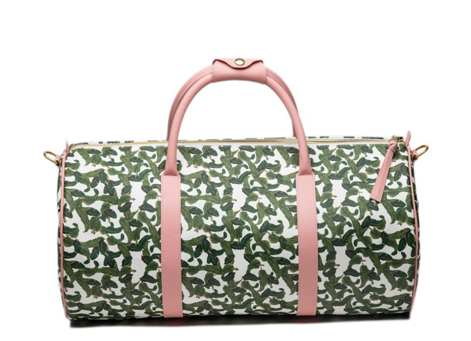 pink and green bag