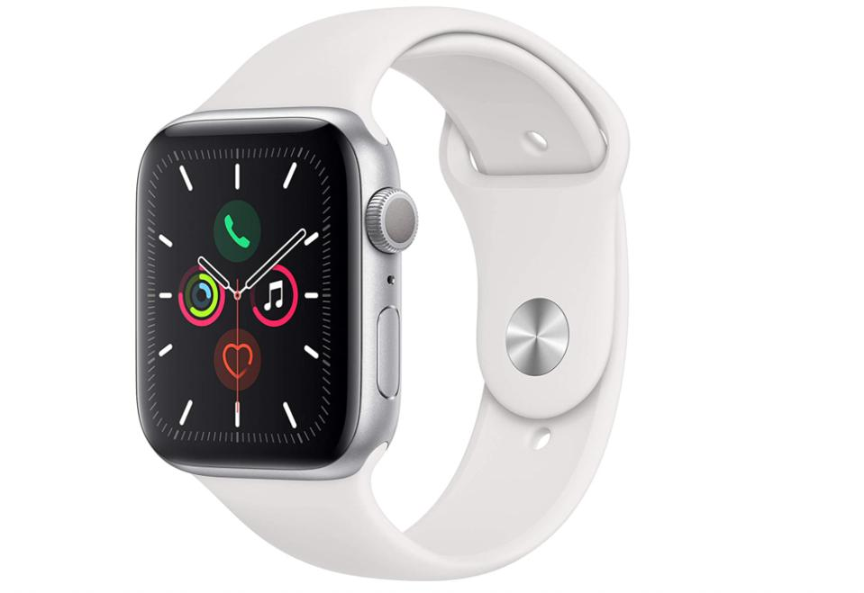 The Best Sleep Aids For A Good Night's Rest: Apple Watch Series 5 (GPS, 44mm) - Silver Aluminum Case with White Sport Band