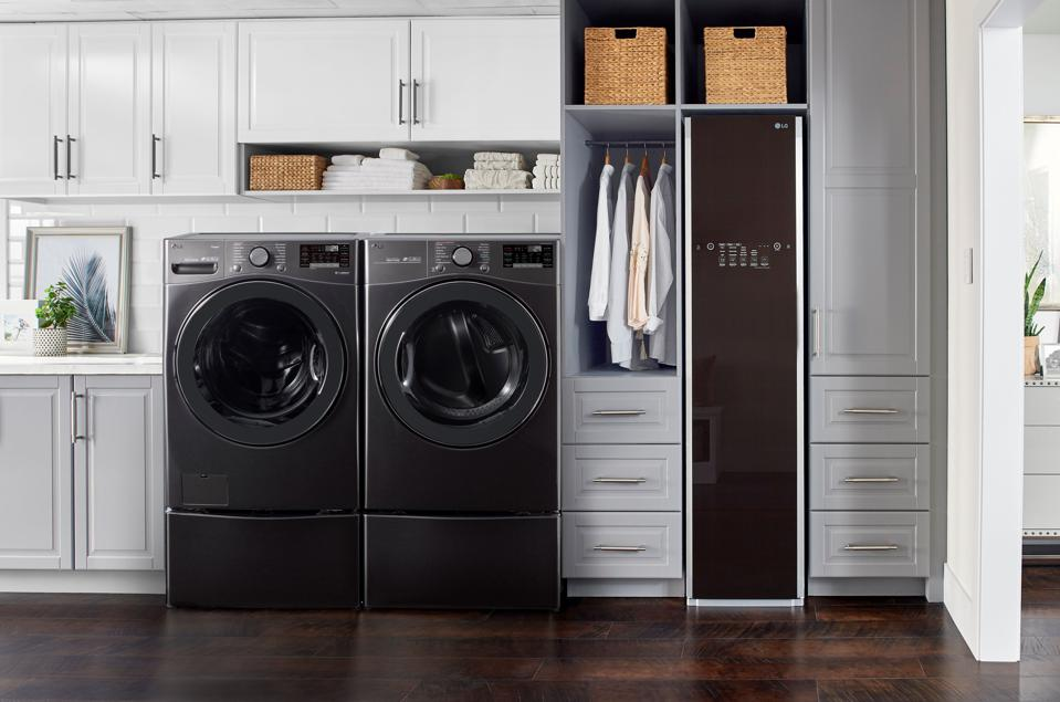 Laundry appliances with antimicrobial properties.