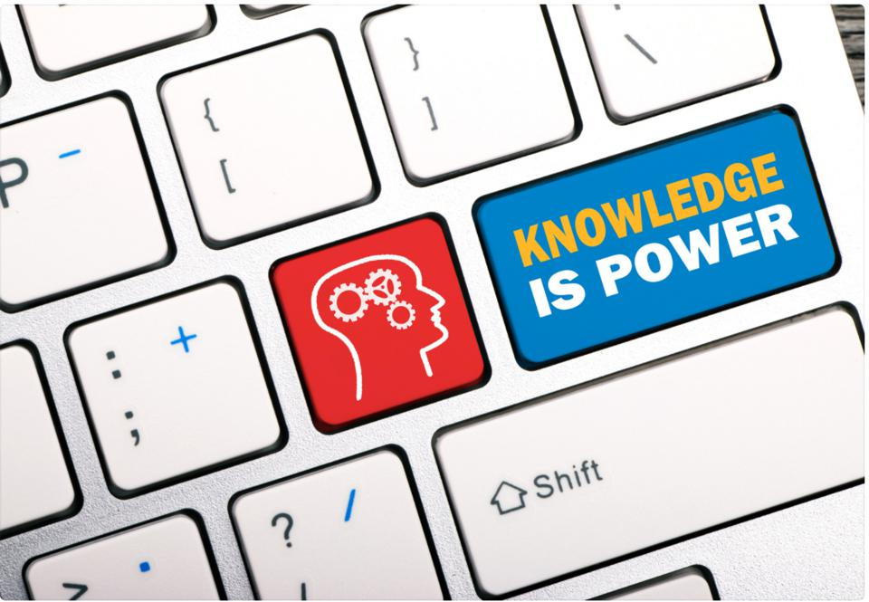 Keyboard illustration with Knowledge is Power Key