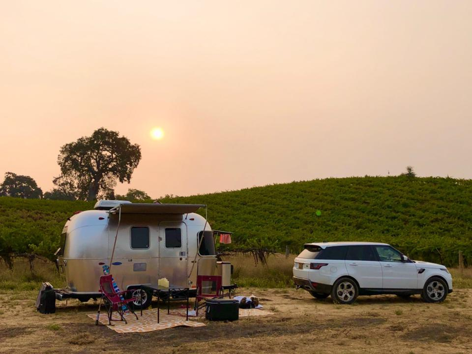 A member set up for the night in wine country.