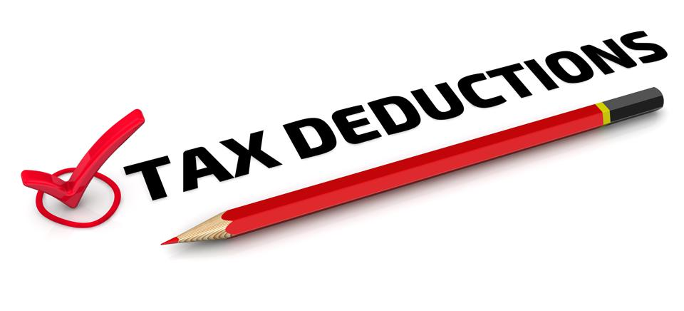 Tax deductions. The check mark