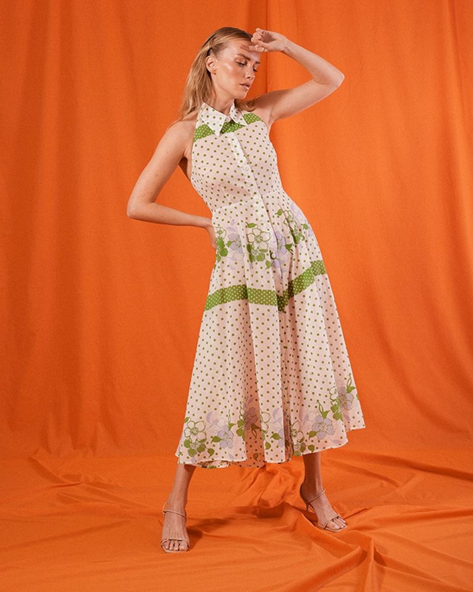 Saint Mojavi The Cartagena Collar Dress Long