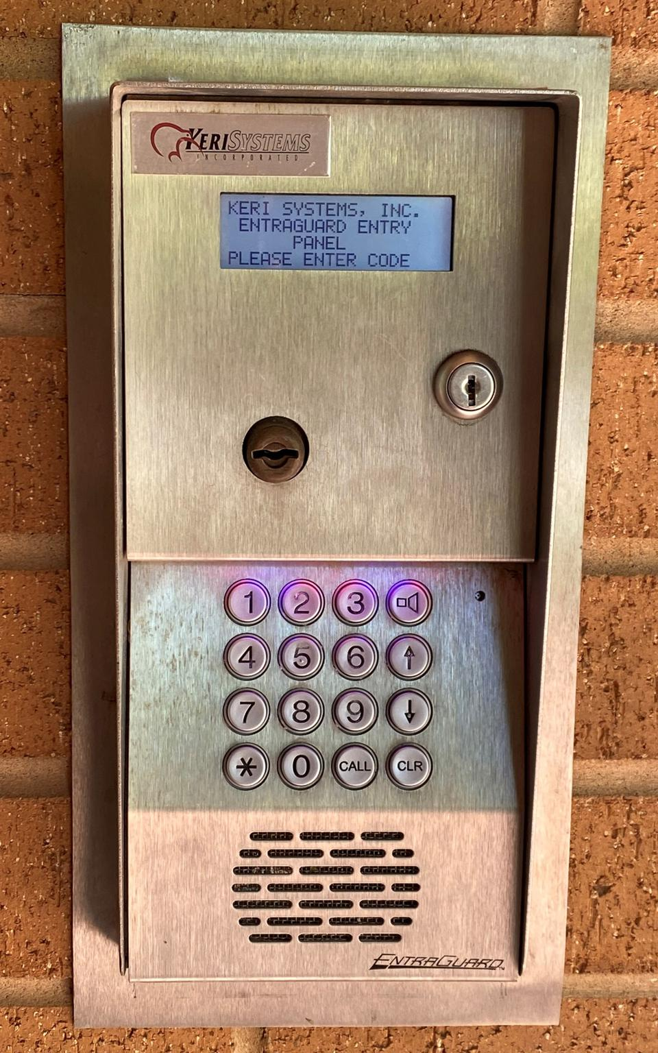 An access control system that can be easily compromised because of the low-security lock