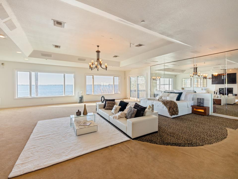 Bedroom with waterfront view