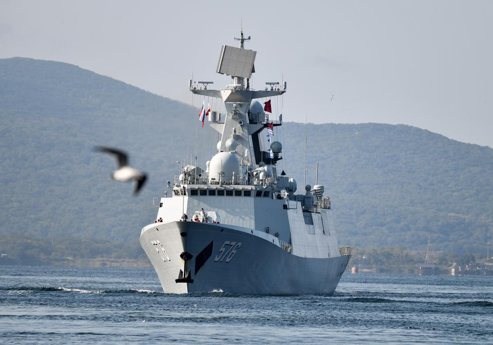China warships arrive in Vladivostok for joint Russian-Chinese naval drills
