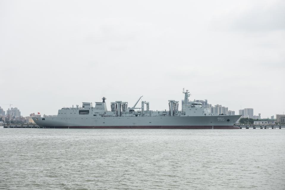 Type 901 fast combat support ship #965. 31JUL17 SCMP/ Chow Chung-yan