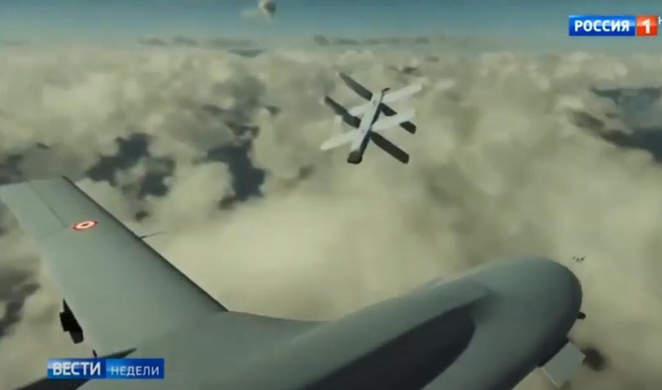 Drone attacking drone