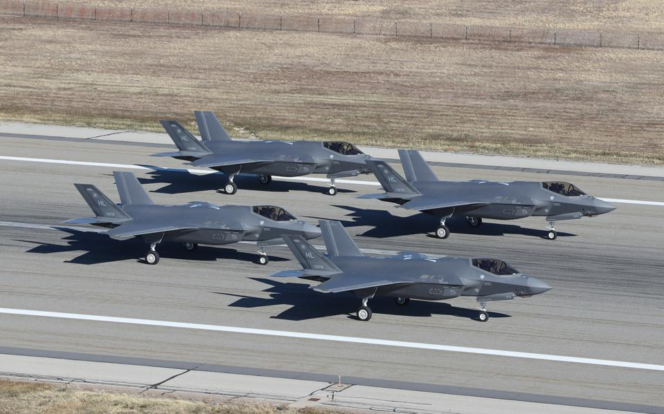 Hill Air Force Base's Fighter Wings Fly Dozens Of F-35A Fighters In Combat Exercise In Utah