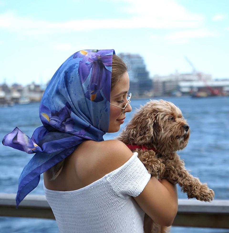 The glamours iris scarf on deck