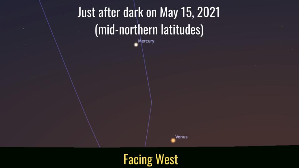 During May, Mercury will reach its highest position in the night sky for 2021.