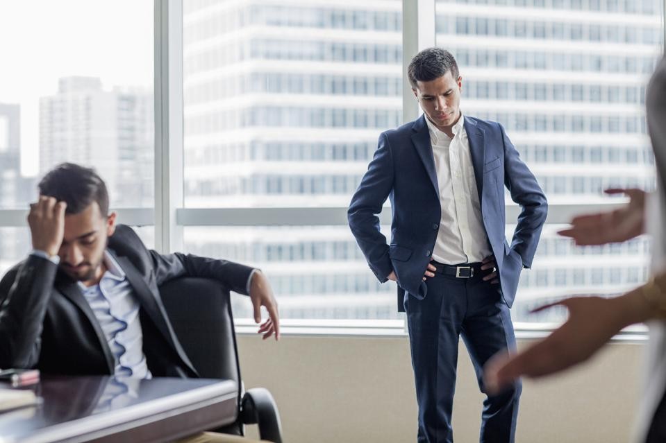 Business colleagues in disagreement discussion