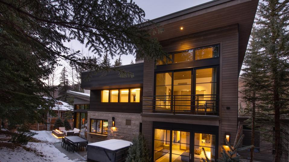 exterior details luxury ski house 354 Beaver Dam Road Vail, Colorado