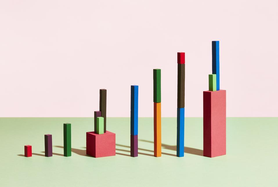 Conceptual image of geometric blocks
