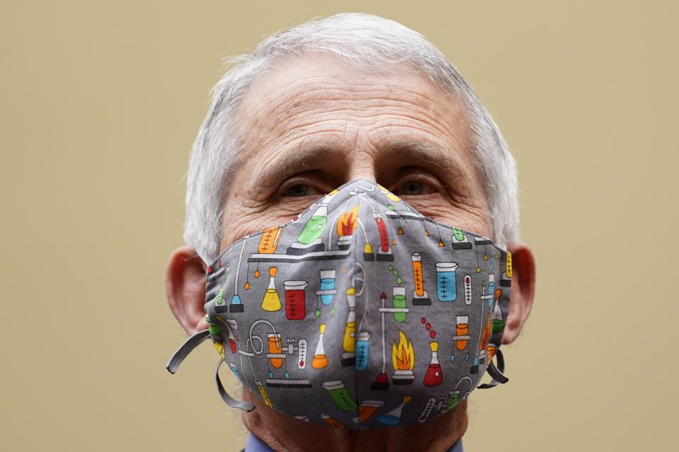 White House chief medical advisor Dr. Anthony Fauci wearing face mask