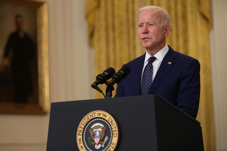 President Biden Delivers Remarks On Russia At The White House