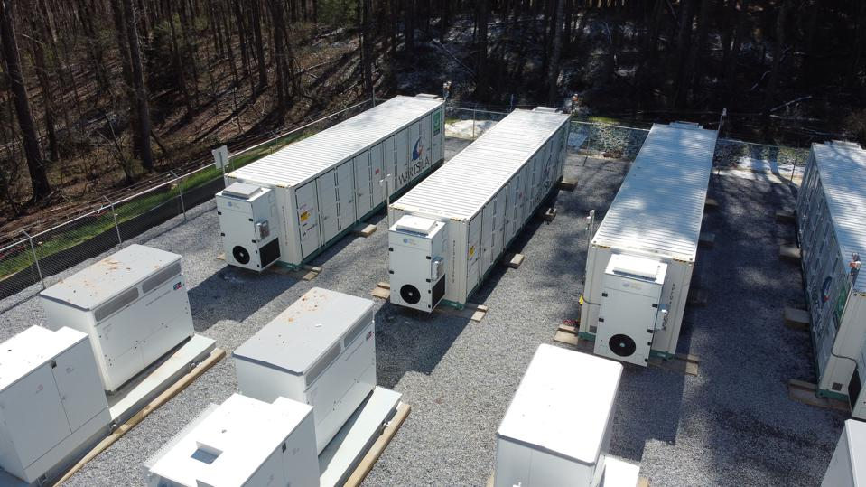 Grid-scale battery array