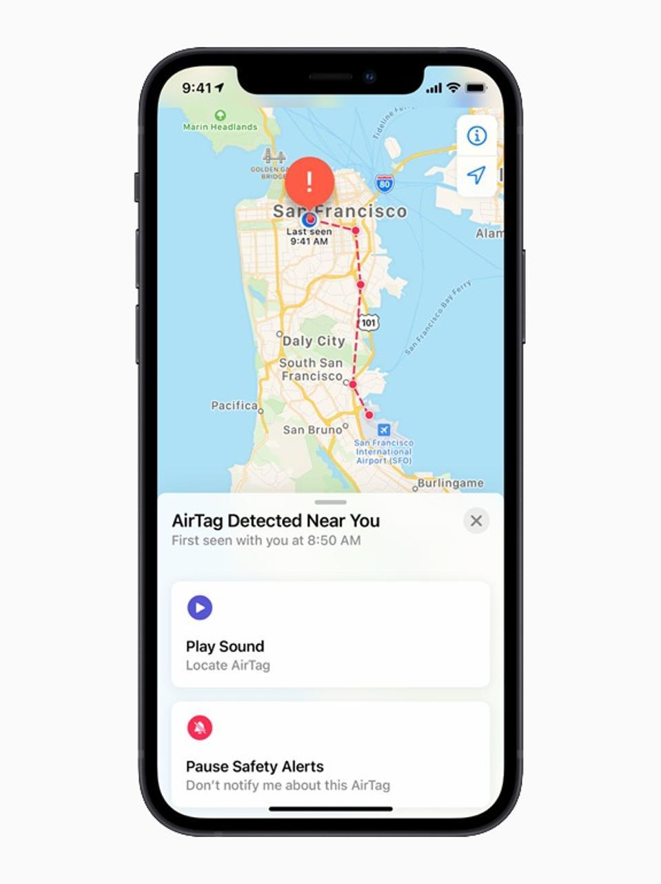 Ο νέος ανιχνευτής στοιχείων Apple AirTake και το Finder τοποθεσίας θα σας ειδοποιήσουν για ετικέτες που δεν βρέθηκαν κοντά σας.