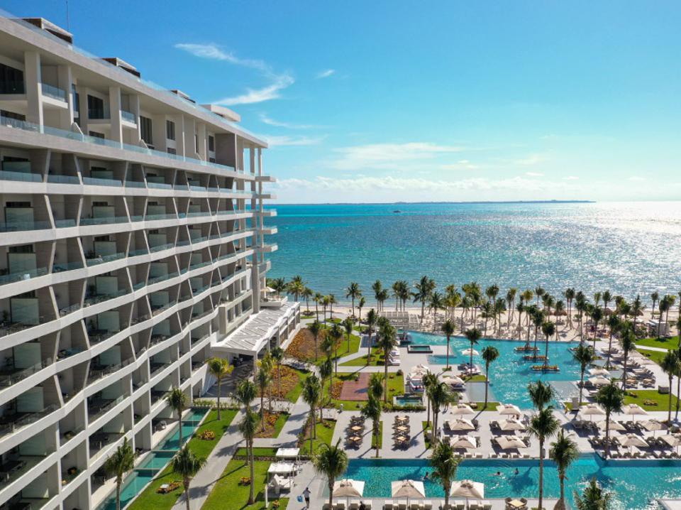 Beach hotel in Mexico.