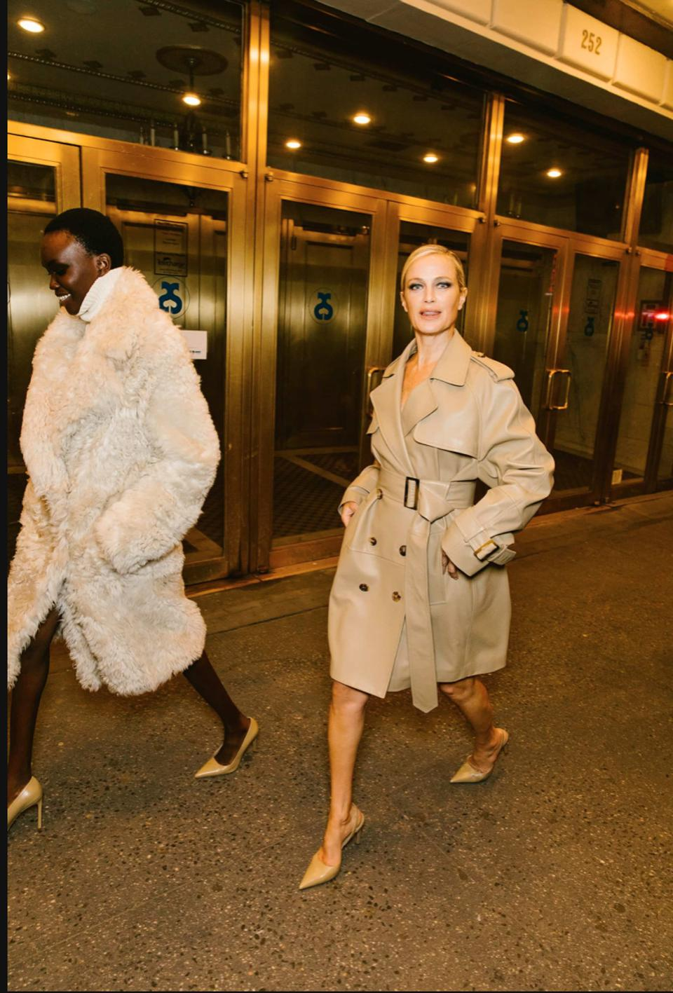 Model Carolyn Murphy and Adut Akech ready to hit the pavement runway